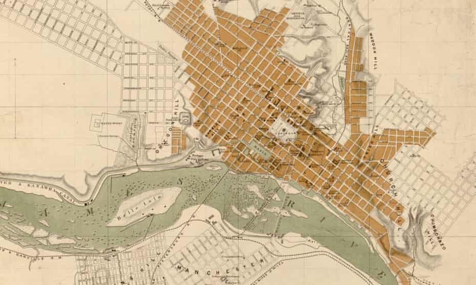 Richmond, Virginia, as seen on a map from 1864.