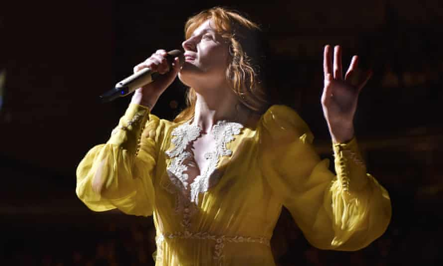 Florence Welch performing in 2018.