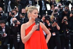 "British model Kate Moss arrives for the screening of the film ""Loving"""