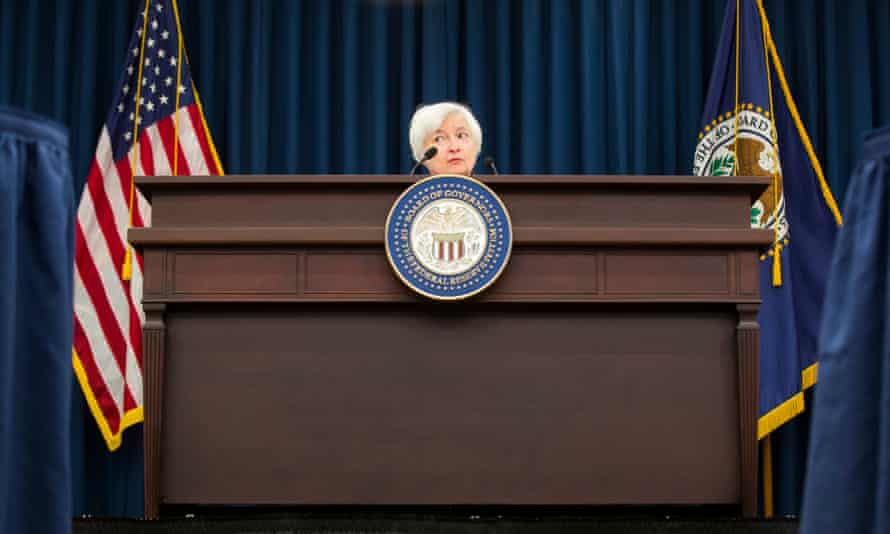 US Federal Reserve chair Janet Yellen