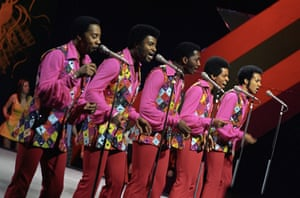 The Temptations on Top of the Pops in 1972.