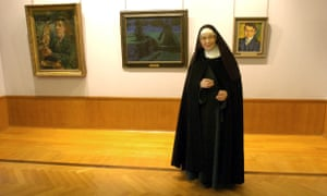 Sister Wendy Beckett during her visit to the Barber Institute of Fine Arts in Birmingham in 2004.