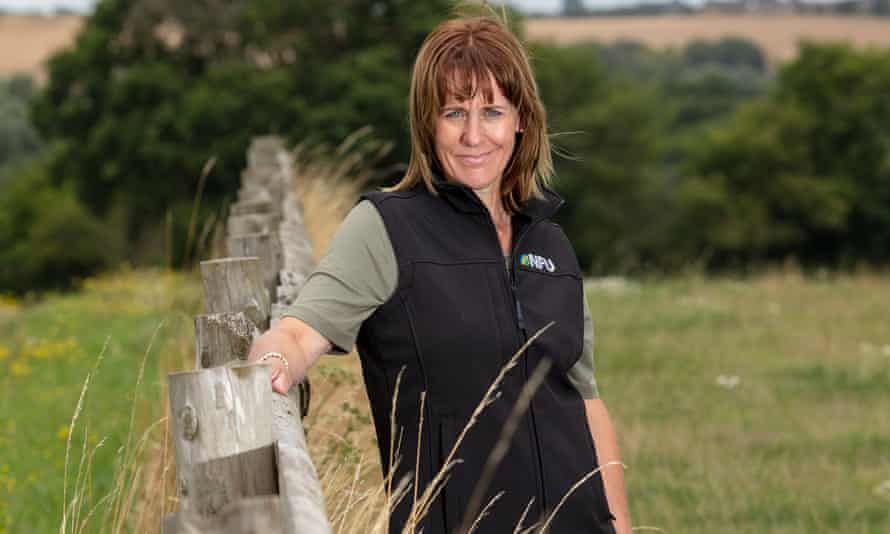 The NFU president, Minette Batters.