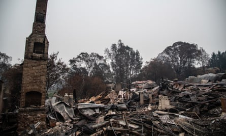 File photo of a burnt-out property in Cobargo, Australia