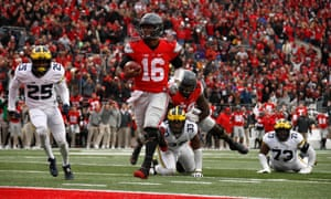 Ohio State's college football team, pictured in 2016, are one of the most popular in America