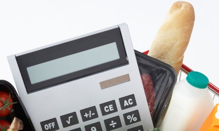 Groceries and calculator