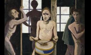 Die Schwarzen Zimmer by Karl Hofer (1943)