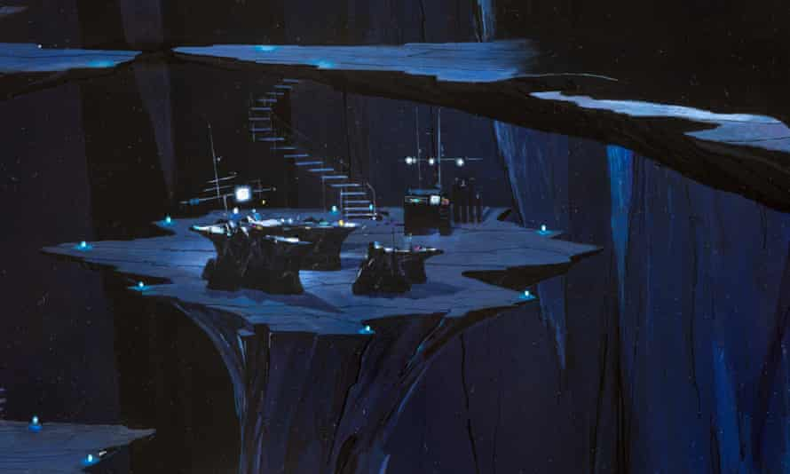 A matte painting of the Batcave from Batman Returns (1992).