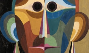 A detail of the painting Head, circa 1920s, by Elisabeth Tomalin.