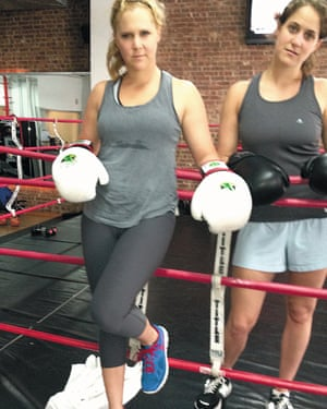 Schumer with her sister Kim at a New York gym