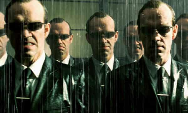 Hugo Weaving as Agent Smith in The Matrix Revolutions