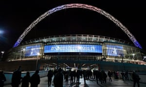 A general view outside the stadium prior to the Uefa Europa League tie between Tottenham and Gent at Wembley in February.