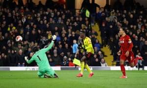 Watford's Ismaila Sarr scores their second goal.