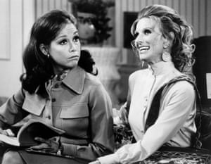 With Cloris Leachman in a 1971 episode of The Mary Tyler Moore Show