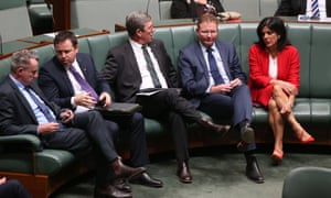 House of Representatives 17/9/18<br>Julia Banks and Craig Laundy during a division on the TPP legislation this afternoon in parliament house Canberra. Monday 17th September 2018. Photograph by Mike Bowers. Guardian Australia