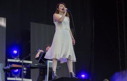 Lauren Mayberry of Chvrches at Glastonbury