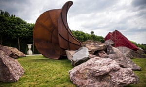 'Dirty Corner' by Indian-born British sculptor, Anish Kapoor. The work sits in the gardens of the Palace of Versailles.