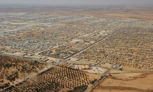 The Zaatari refugee camp in Jordan, home to tens of thousands of Syrian refugees.