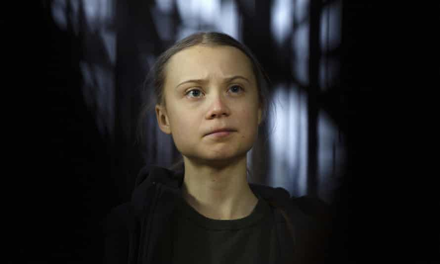 Greta Thunberg at the Environment Council at the European Council building in Brussels in June.