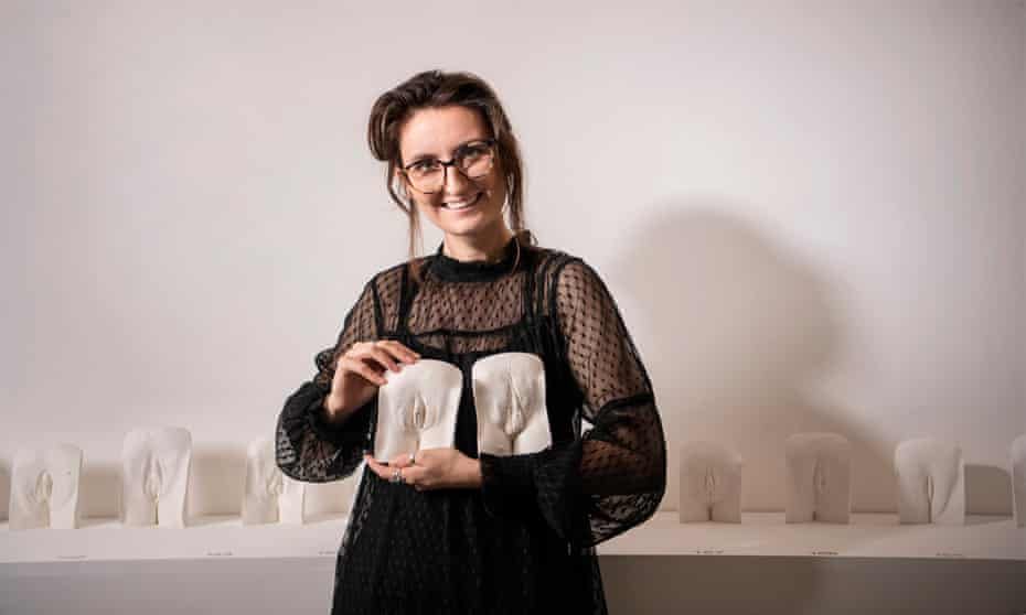 Lydia Reeves with some of her vulva casts