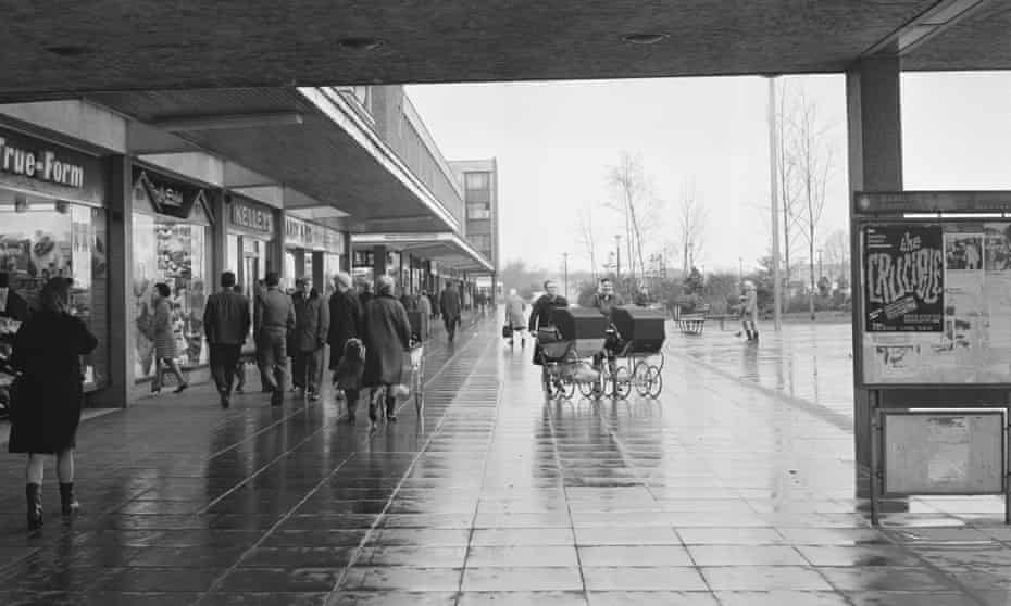 Basildon's Brutalist town centre in 1969.