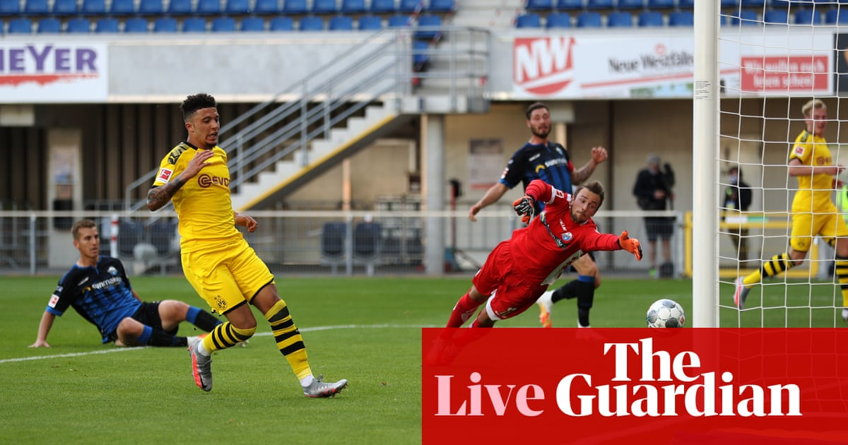 Paderborn 1-6 Borussia Dortmund: Bundesliga – as it happened