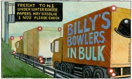 Steve Bell on Boris Johnson's Irish border concessions – cartoon