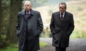 Timothy Spall as Ian Paisley (left)
