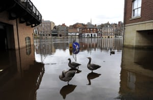 The River Ouse burst its banks in York city centre