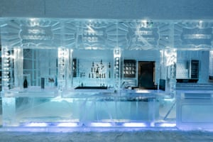 """This winter season, the ice bar has been given a fairground """"on the rocks"""" theme."""