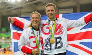 Gold medallists Laura Trott and Jason Kenny