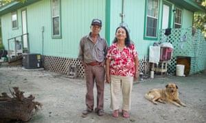 Theresa and Emilio Azuara outside their home