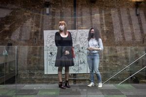 Angela Rayner (left) visiting a social enterprise hub in London.