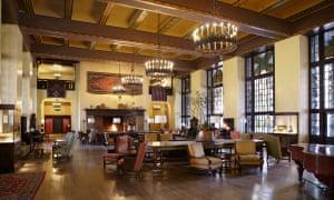 Lounge at the Majestic Yosemite hotel