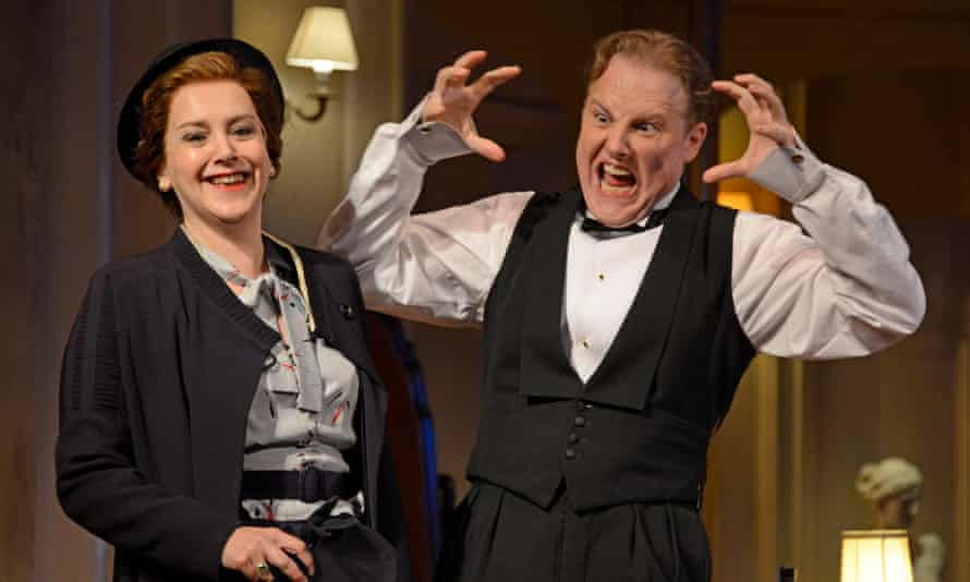 Superficially entertaining … Rebecca Johnson and Samuel West in Present Laughter.