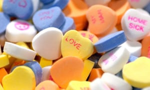 Heartbreaking: a pile of sweethearts won't be given as a Valentine this year.
