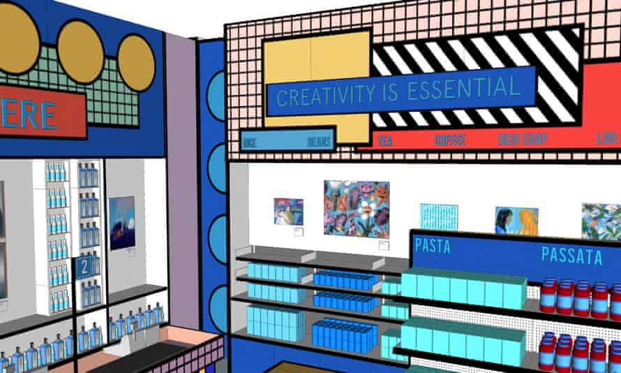 The Design Museum's 'essentials store', which will open as a temporary shop.
