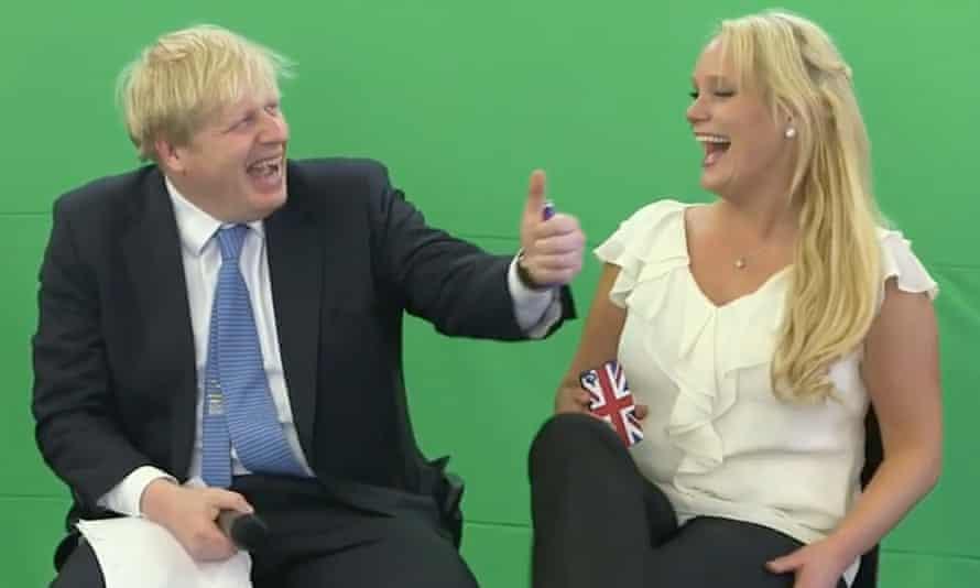 Boris Johnson and Jennifer Arcuri at a technology conference in July 2013.