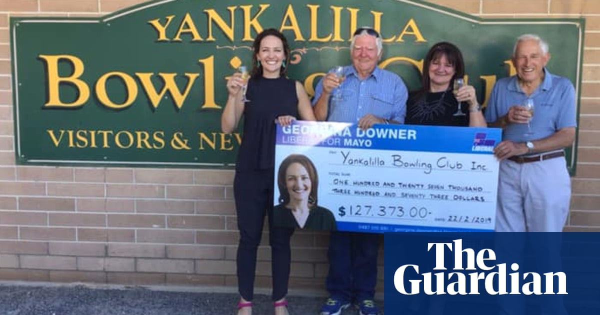 Georgina Downer's giant novelty cheque sparks inquiry into funding