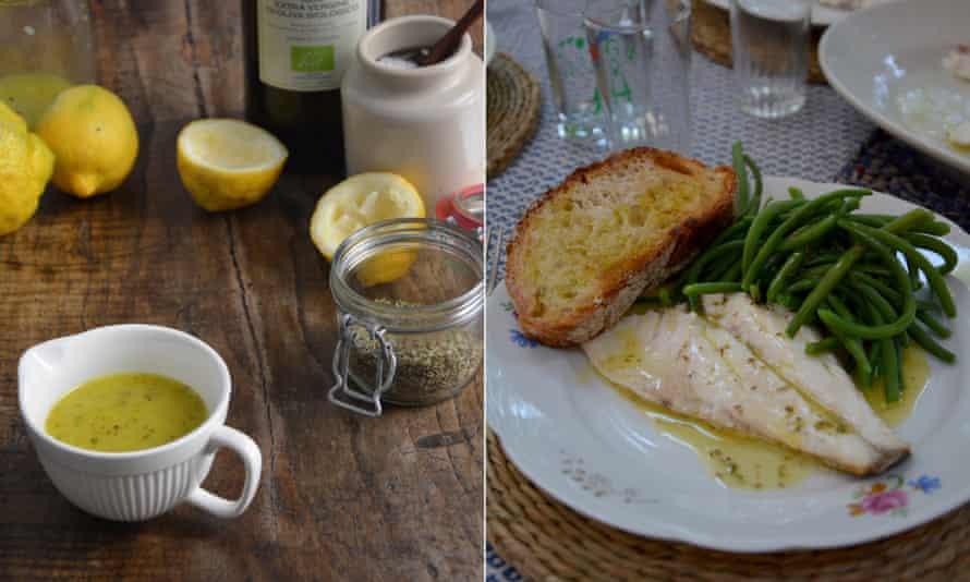 Rachel Roddy's Sicilian lemon sauce (salmoriglio).