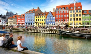 The Nyhavn canal, in Copenhagen's old town
