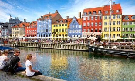 The Nyhavn canal, in Copenhagen's old town