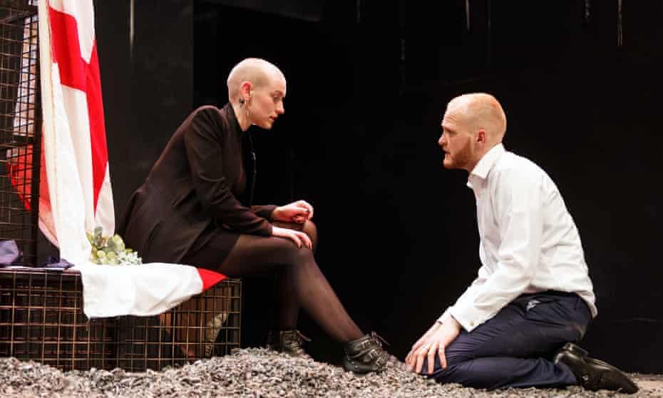 Heledd Gwynn as Katharine and Ben Hall as Henry V.