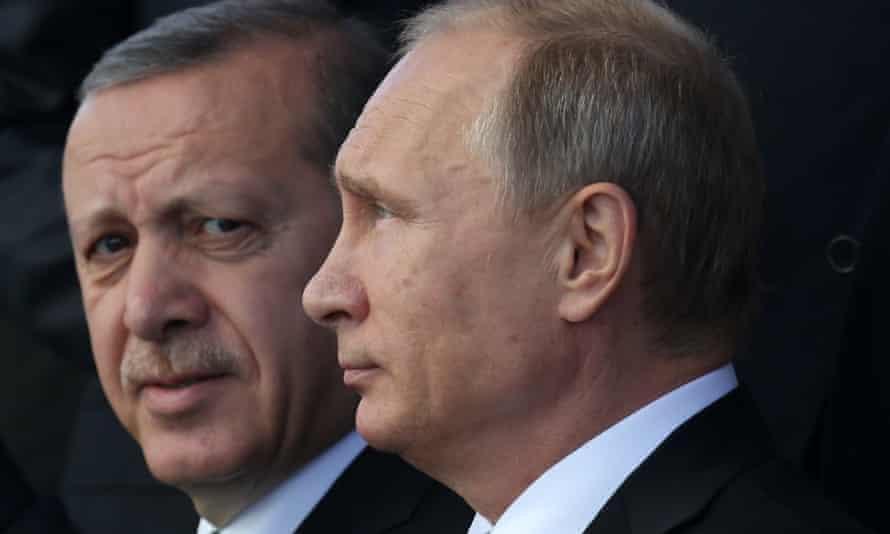 Vladimir Putin and Recep Tayyip Erdoğan