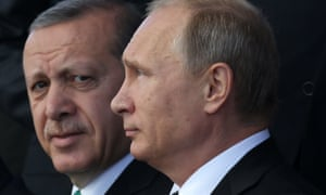 Presidents Erdogan and Putin