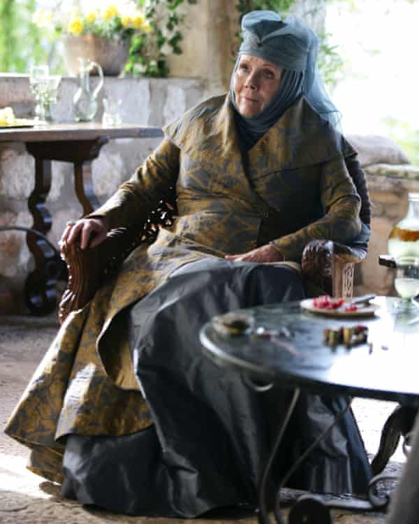 Rigg played Lady Olenna Tyrell in Game of Thrones between 2013 and 2017