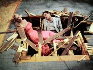 Lewis with Anita Ekberg in Hollywood or Bust (1956).