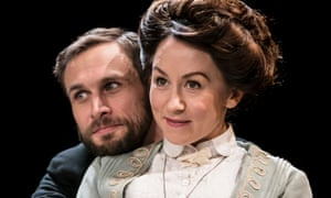Buoyantly alive … Martin Hutson as Morell and Claire Lams as Candida.