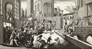 The modern term terrorism stems from Le Terreur, the terror of the French revolution. The illustration shows massacres in Paris, which lasted six days in September 1792 and resulted in more than 1,368 deaths.