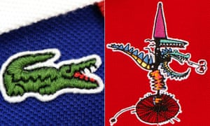 Old and new: the two Lacoste logos.